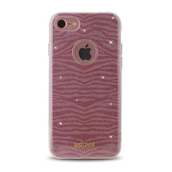 JUST CAVALLI IPHONE 7 / IPHONE 8 TPU BACK CASE LEO ZEBRA,  pink