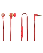 TRIBE in Ear Stereo Earphone Iron Man,  red