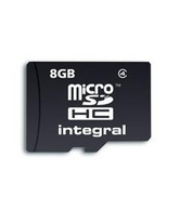 INTEGRAL 8GB MICRO SD NO ADAPTOR IN RETAIL PACKING C4