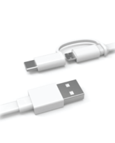 HUAWEI TYPE C PLUS MICRO USB CABLE AP55S WHITE