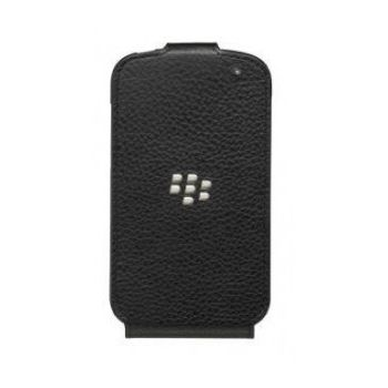 BLACKBERRY Q10 LEATHER FLIP SHELL,  black