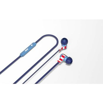 TRIBE IN EAR STEREO EARPHONE CAPTAIN AMERICA,  blue