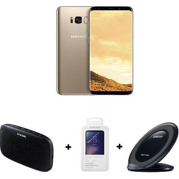 SAMSUNG S8 PREMIUM PACK - BLUETOOTH SPEAKER+ SCREEN PROTECTOR+ WIRELESS CHARGER,  black