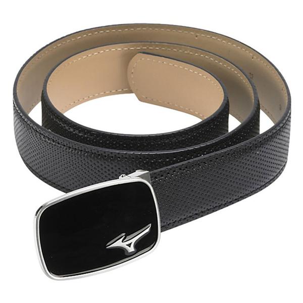 Mizuno Men's Digital Leather Belt - Black, free size,  black