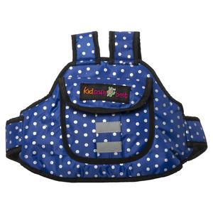 KIDSAFE BELT - Two Wheeler Child Safety Belt - World's 1st, Trusted & Leading (Cool Royal Blue Dots), blue
