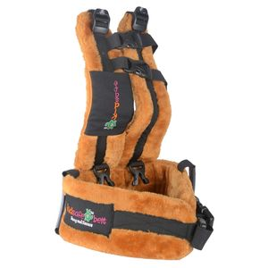 KIDSAFEBELT - Two Wheeler Child Safety Belt - World's 1st, Trusted & Leading (Air Prime Brown), brown