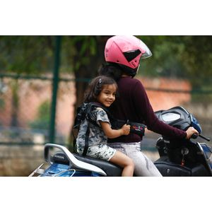 KIDSAFEBELT - Two Wheeler Child Safety Belt - World's 1st, Trusted & Leading (Air Black), black