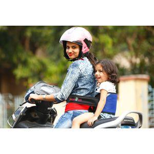 KID SAFE BELT - Two Wheeler Child Safety Belt - World's 1st Trusted & Leading (Sport Royal Blue), blue