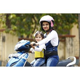 KID SAFE BELT - Two Wheeler Child Safety Belt - World s 1st Trusted & Leading (Sport Yellow), yellow