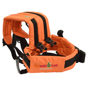 KIDSAFEBELT - Two Wheeler Child Safety Belt - World's 1st, Trusted & Leading (Air Orange), orange