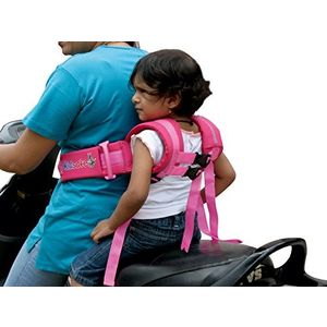 KIDSAFEBELT - Two Wheeler Child Safety Belt - World's 1st, Trusted & Leading (Air Luxor Violet), violet