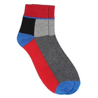 Chasquido Colour Block Low Cut Red socks
