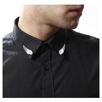 Silver wings collar pin