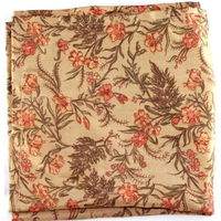 Camel floral pocket square