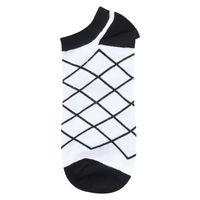 Cross Check Black/White Low Cut Socks