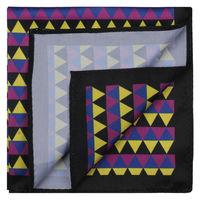 Multicolor Chevron Print Pocket Square
