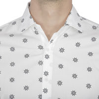 Chasquido All-over Ship's Wheel Print Shirt in Slim Fit, s