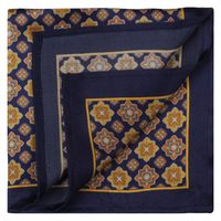 Blue/Yellow Seamless Ornament Pocket Square