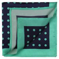 Navy with Green Polka Dots Pocket Square