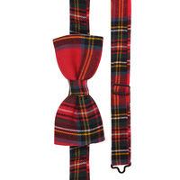Red Tartan Plaid Bow Tie