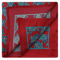 Red and Aqua Alluring Pocket Square