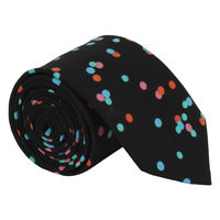 Black Speckle Print Tie