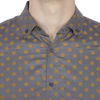 Chasquido All-over Polka Dots Print Shirt in Italian Cotton (Slim Fit), xl
