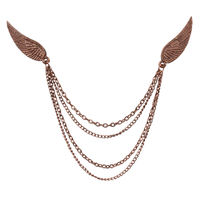 Chasquido Copper Double Wings Lapel Pin/Brooch
