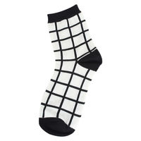 Checked Black/White Socks