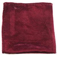 Wine velvet pocket square