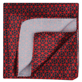 Red Lace Pattern Pocket Square