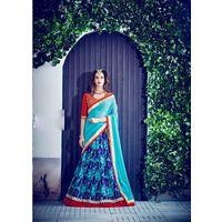 Kyara Bangalori Silk Lehanga - 10005,  blue