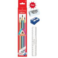 Faber Castell Trenz Silver Pencils -Pack Of 10