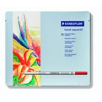 Staedtler Karat Aquarell Pencil (36 Colours, Metail Box) 125 M 36
