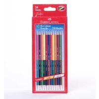 Faber Castell Bi-Colour Pencil, 12 Shades