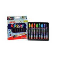 Kores Glitter Wax Crayons 8 Shades
