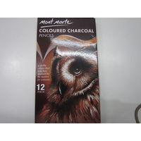 Mont Marte Coloured Charcoal Pencil 12 Shades (MPN0042_ V02)