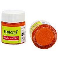 Fevicryl Acrylic Colour Orange 15ML (217) (Pack of 5)