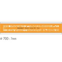 Isomars Lettering stencil-7mm