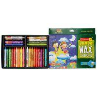 Camel Wax Crayons+ 2 Glitter Shade Free - 24 Shades