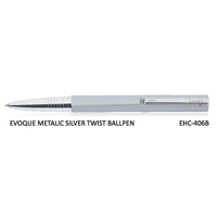 Signac Evoque Twist Ball Pen Metallic Silver (EHC-406B)