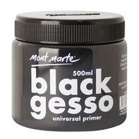 Mont Marte Black Gesso Tub 500ml (MPA0040)