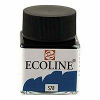 Royal Talens Ecoline Liquid Water Colour Ink 30ML - Sky Blue Cyan (578)