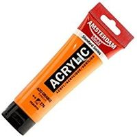 Amsterdam Acrylic Colour Tube - Azo Orange ( Standard Series 120ml, 17092762)