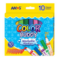 Amos Color Buddy Markers, 10 Colors in medium body (CM10P-M)