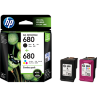 HP 680 Combo Ink Cartridge Pack (Tri Colour & Black - X4E78AA)