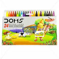 Doms Long Wax Crayons 24 Shades