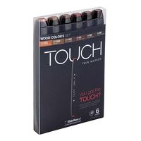 Shinhan Touch Twin Marker Wood Colours (Set of 6) (1100610)