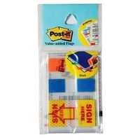 3M Post it Value Added Flags(Sign in here) - 2 Colours(Pack of 2)