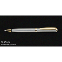 Pierre Cardin St Moriz Stainless Steel Gold Ball Pen